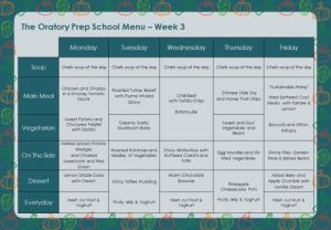 Oratory Prep Menu SPRING 2020 Week 3
